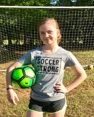 Soccer Strong Ladies T-Shirt