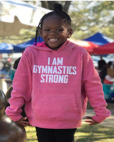 I Am Gymnastics Strong Youth Hoodie