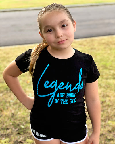 Legends Are Born In The Gym Girls T-Shirt