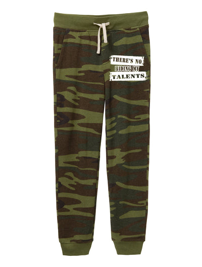 There's No Hiding My Talents Youth Camo Jogger