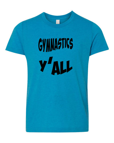 Gymnastics Y'all Neon Youth T-Shirt