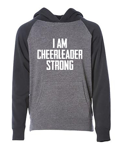 I Am Cheerleader Strong Youth Hoodie