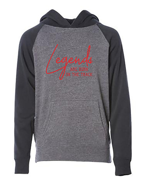 Legends Are Born On The Track Youth Hoodie
