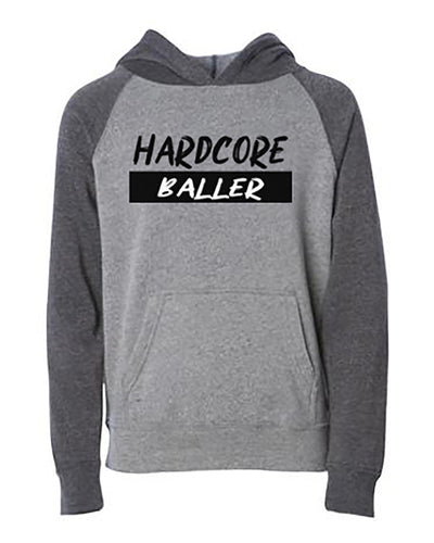 Hardcore Baller Youth Hoodie