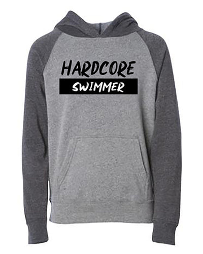 Hardcore Swimmer Youth Hoodie
