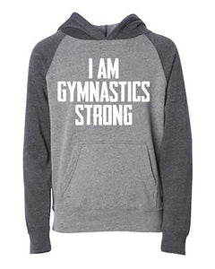 I Am Gymnastics Strong Kids Hoodie