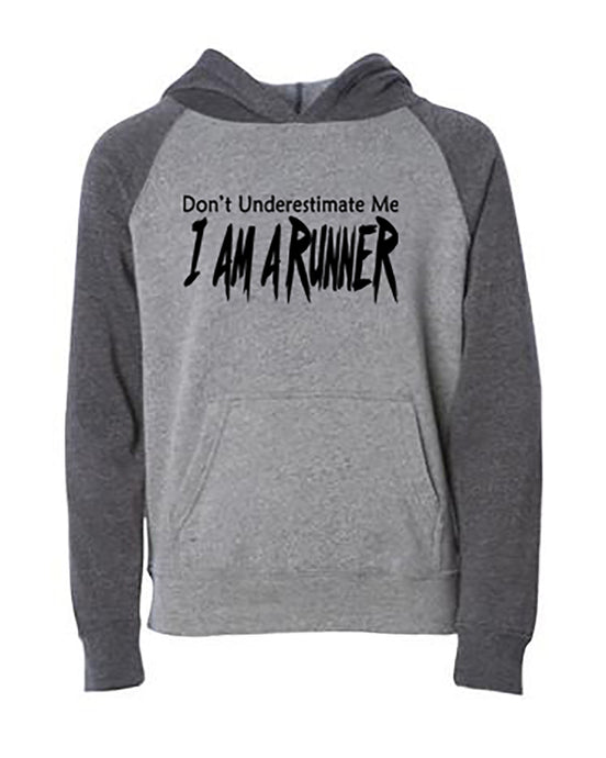 Don't Underestimate Me I Am A Runner Youth Hoodie