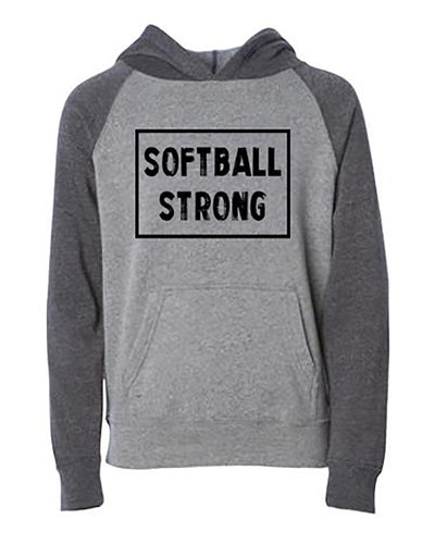 Softball Strong Youth Hoodie