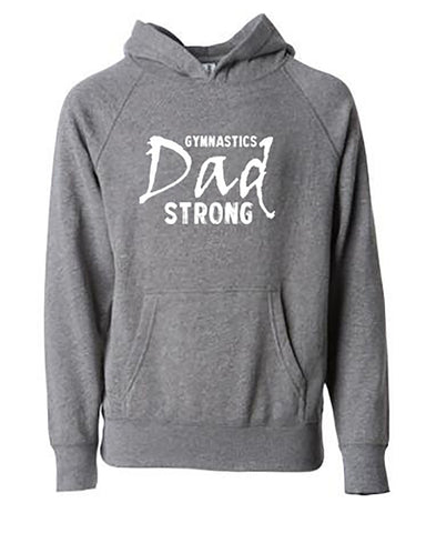 Gymnastics Dad Strong Hoodies