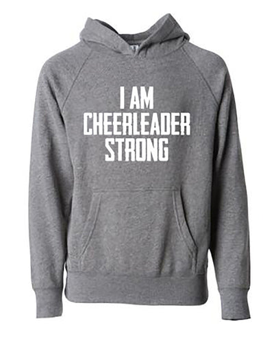 I Am Cheerleader Strong Adult Hoodie