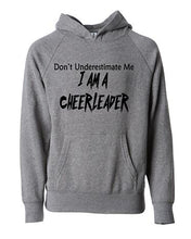 Don't Underestimate Me I Am A Cheerleader Kids Hoodie
