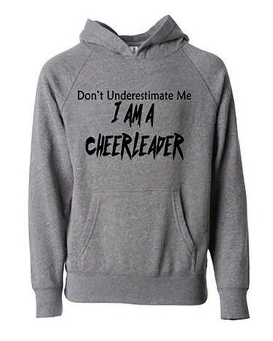 Don't Underestimate Me I Am A Cheerleader Tees Tanks Hoodies Blankets