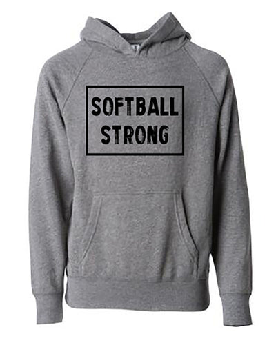 Softball Strong Adult Hoodie