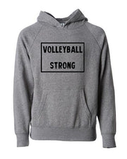 Volleyball Strong Adult Hoodie