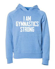 I Am Gymnastics Strong Adult Hoodie
