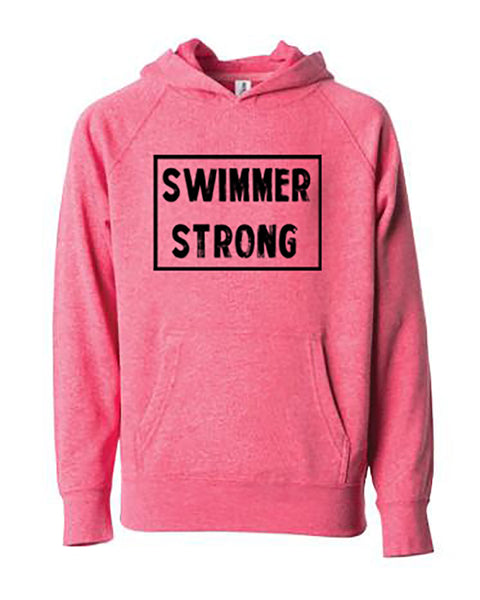Swimmer Strong Adult Hoodie