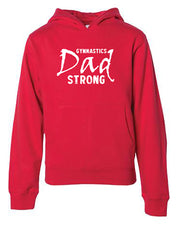 Gymnastics Dad Strong Adult Hoodie
