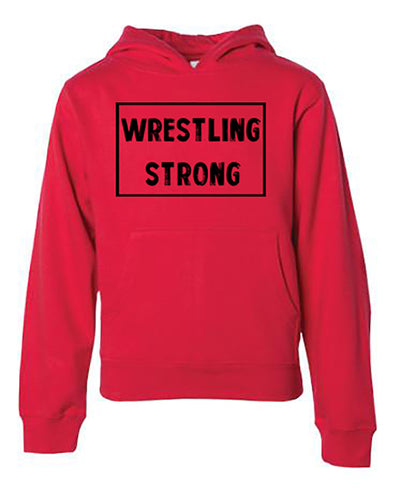 Wrestling Strong Adult Hoodie