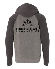 Nickel/Carbon Kids Hoodie Back Shining Light Gymnastics Logo