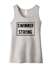 Swimmer Strong Girls Tank Top