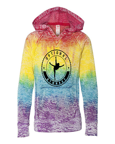 Optional Gymnast Ladies Tie Dye Hoodie