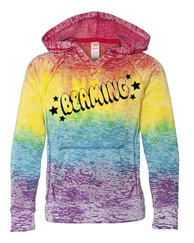 Beaming Girls Tie Dye Hoodie