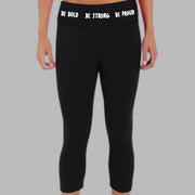 Gymnastics Be Bold Be Strong Be Proud Girls Gymnastics Capris Front