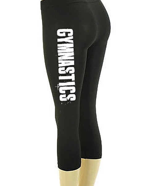Gymnastics Be Bold Be Strong Be Proud Girls Capris