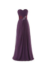 A-Line Sweetheart Floor-length Bridesmaid/Prom Dress With Ruffles -NBAdress