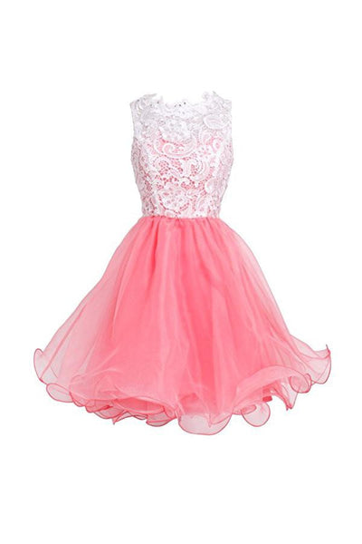 High Quality Organza Short Party Dresses Homecoming Dresses-NBAdress