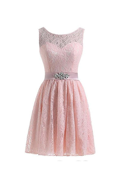 Short Lace Tulle Prom Dresses Homecoming Dresses Party Dresses-NBAdress