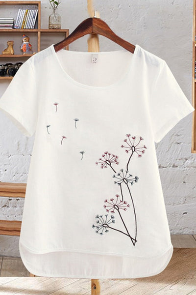 New Arrive Pure Cotton Women Fashion Clothes With Pattern Appliques-Nbadresses