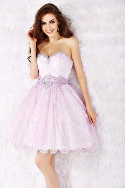 Sweetheart Ball Gowns Strapless Beading Homecoming Dresses-NBAdresses