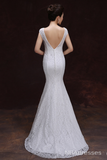 Long Paragraph Slim Shoulder Wedding Dress-NBAdresses