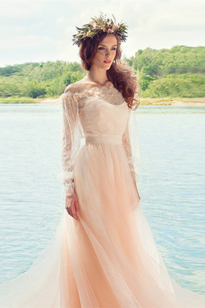 Dream Princess Word Shawl Small Trailing Wedding Dress-NBAdresses