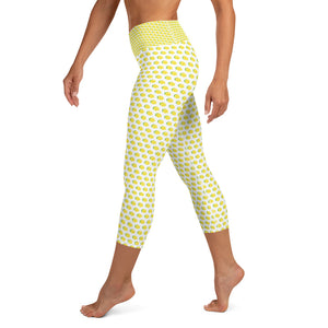 Yoga Capri Leggings - Lemon Logo - LimonadaLA