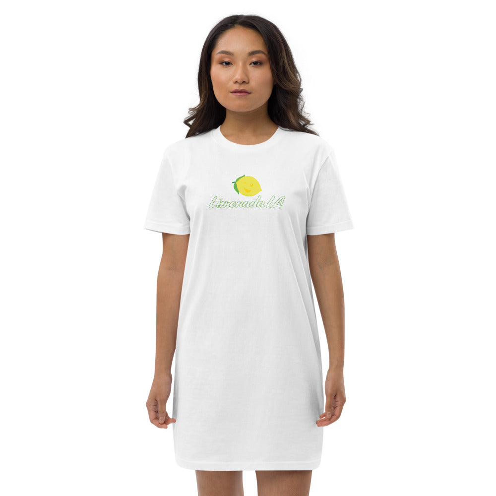 Organic Cotton T-Shirt Dress - Limonada LA Logo