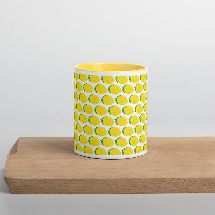 Mug with Color Inside - Lemon Logo - LimonadaLA