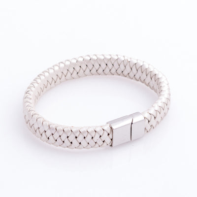 Leather Bangle - Off white