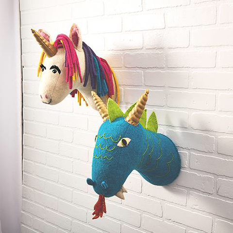 Decorative Unicorn head for a child bedroom or nursery