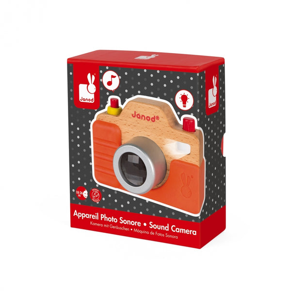 Wooden Camera with Sound and flash