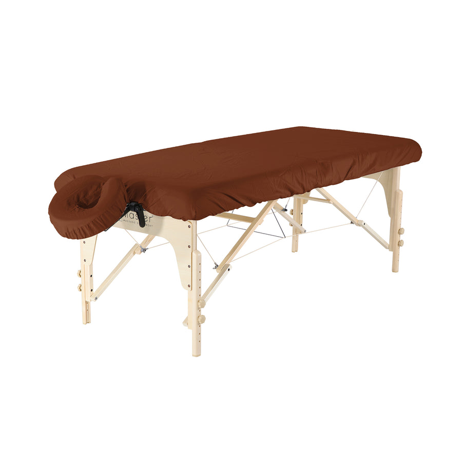 Master Massage Luxury Microfiber Massage Table Cover set chocolate