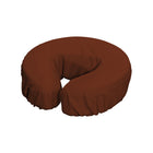 Master Massage Durable Microfiber Face Cushion Cover chocolate 12pc