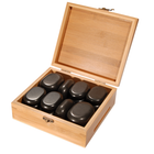 Master Massage Hot Stone Basalt Stone with Bamboo Box