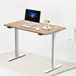 "Hi5 Electric Height Adjustable Standing Desks with Rectangular Tablet (55""x 27.5"") for Home Office Workstation"