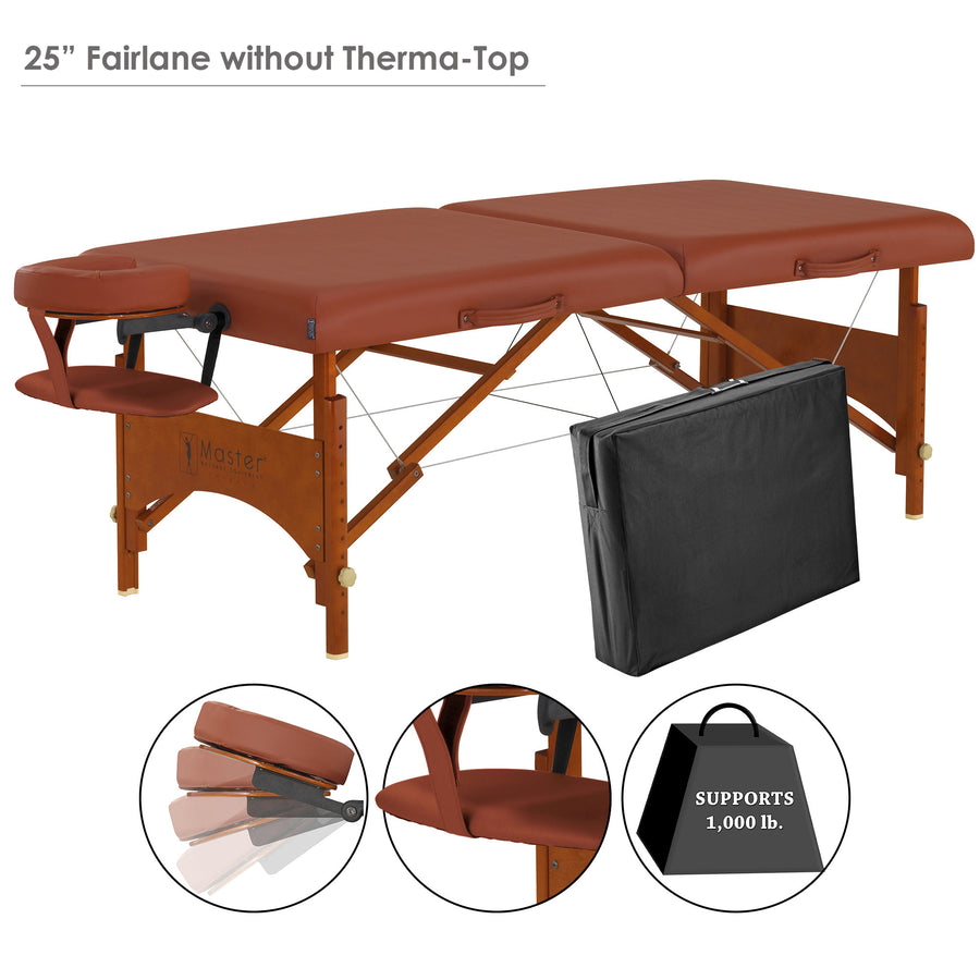 "Master Massage 28"" Fairlane thermal top comfort massage Table set"