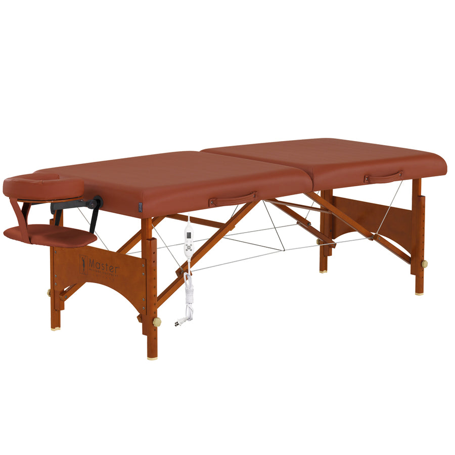 "Master Massage 25"" Fairlane wood spa folding Massage Table"