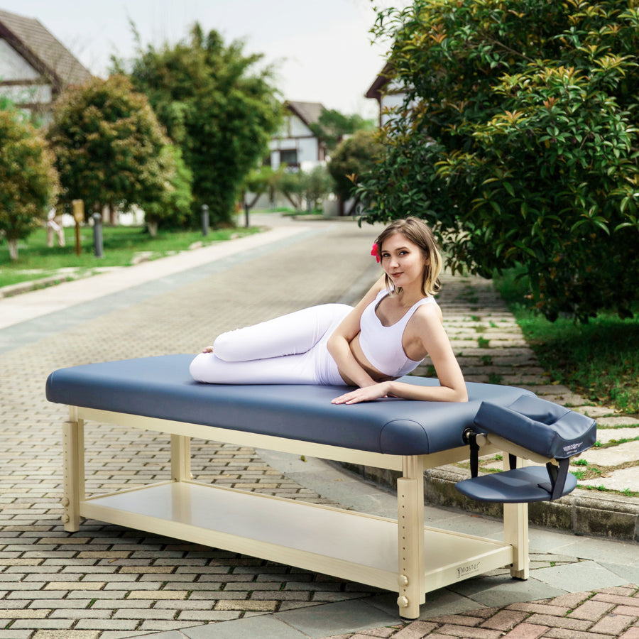 "Master Massage 30"" LAGUNA™ Stationary Massage Table Massage Table Portable Massage Table Folding Massage Table Foldable Massage bed Wood massage bed Spa Table Salon table Beauty Table Tattoo table"