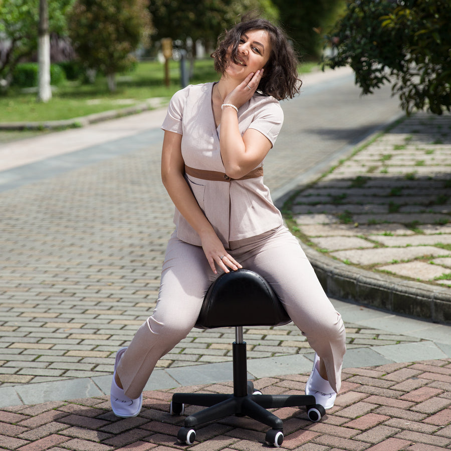 Master Massage Ergonomic Saddle Stool Massage Stool Swivel Stool