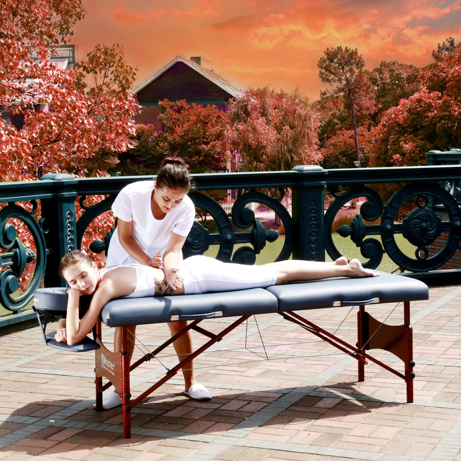 "Master Massage 30"" Newport™ Portable Massage Table Package with Best Selling Size & ""STRONG as a Truck!"" (Royal Blue Color)"